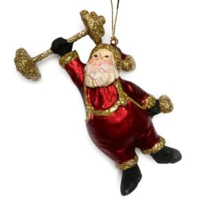Eventyrfigur, julemand væægtløfterEventyrfigur, julemand vægtløfter
