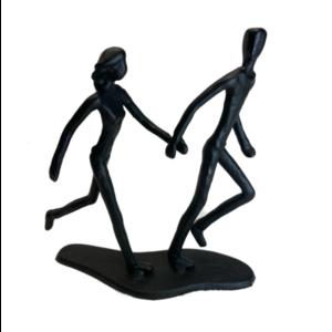 Jernfigur: par i løb