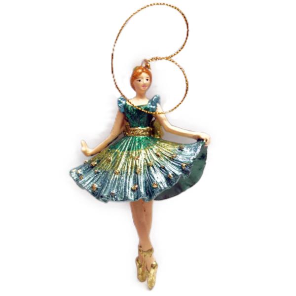 Eventyrfigur, ballerina grøn
