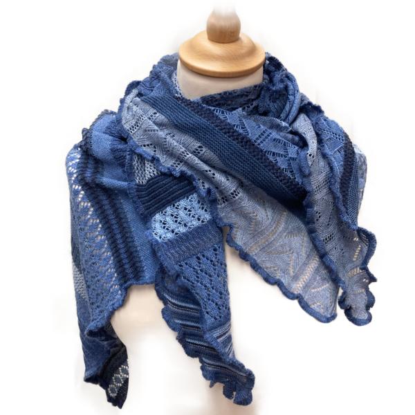 Invero merino uld tørklæde, Jeansblå