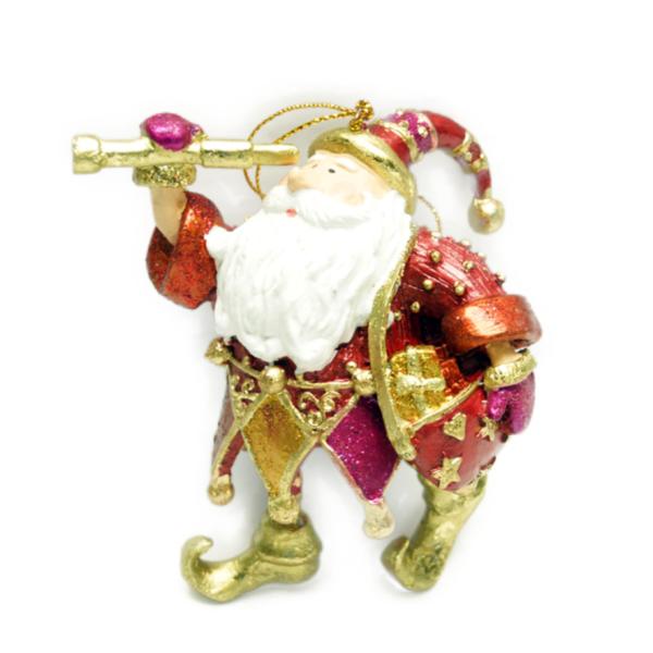 Eventyrfigur, julemand med kikkert