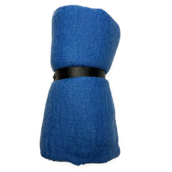 Viskose tørklæde blå