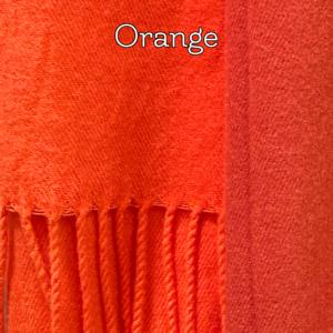 Orange kashmeretørklæde