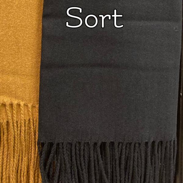 Sort kashmere tørklæde