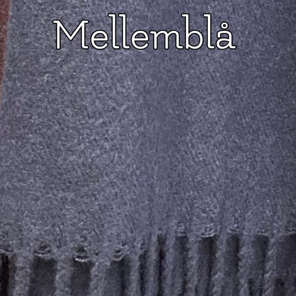 Blåt tørklæde i kashmere