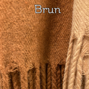 Kashmeretørklæde, brun