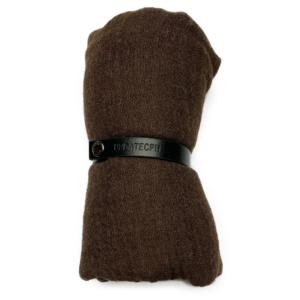 Viskosetørklæde, brun