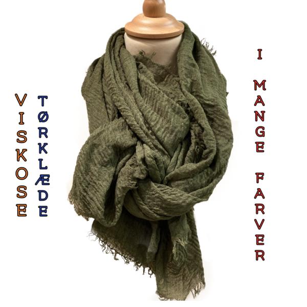 Viskosetørklæde, ensfarvet