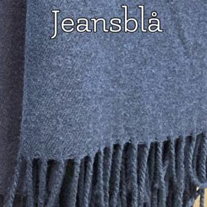 Jeansblå kashmeretørklæde