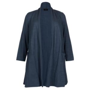 Mellemblå lang jakke fra QNeel