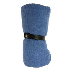 Viskosetørklæde, støvet blå