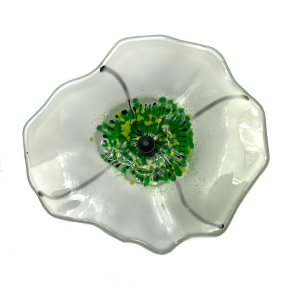Grevelsgaard Glas, hvid glasblomst