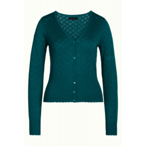 king louie dragonfly green cardigan med hjerter