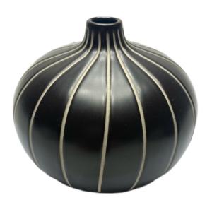 Lindform vase - bari - brun m furer