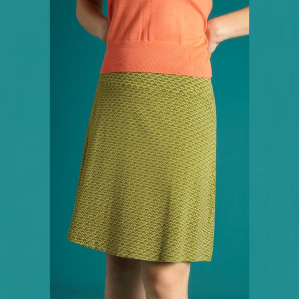 king louie border skirt fresno posey green