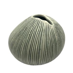 Lindform vase - asti grå stribe L5