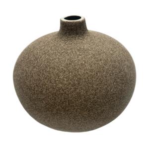 Lindform vase - Bari medium - mørk sand
