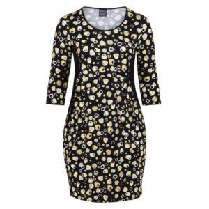 Pont Neuf kjole med gule pletter