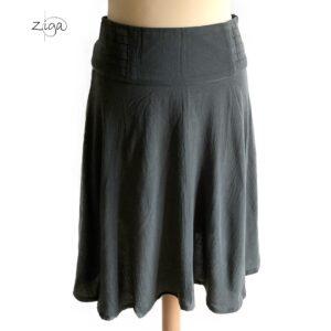 Campur nederdel Flores i grå Pls.221. Med bred linning
