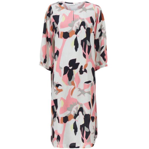 Masai mønstret Niana kjole, peach blossom 1003081