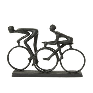 Jernfigur cyklist i sort