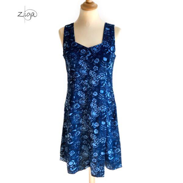 Campur blå mini kjole uden ærmer W.324