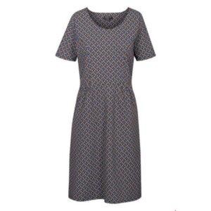 Zilch kjole med stretch i mosaic sort