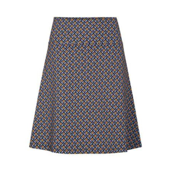 Zilch nederdel med stretch i mosaic sort