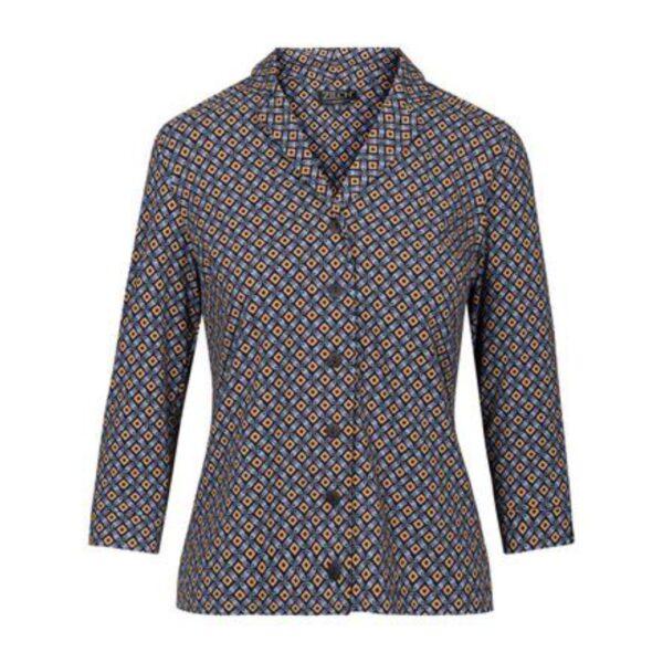Zilch bluse med knapper i mosaic sort