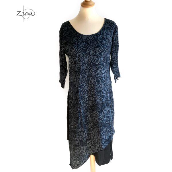 Campur mønstret Tiga kjole med 3/4 lange ærmer