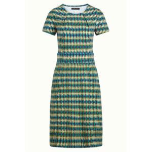 King Louie kjole med lommer model Mona Dress Juniper. I flot grøn og turkis farver.
