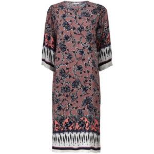 1003191 Niana kjole i støvet rosa med blomsterprint fra Masai