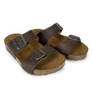 Haflinger brune sandaler med spænder Bio Andrea