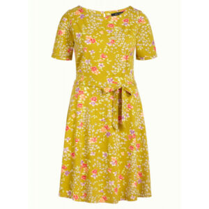 King Louie Betty kjole Maripose med blomsterprint spring yellow