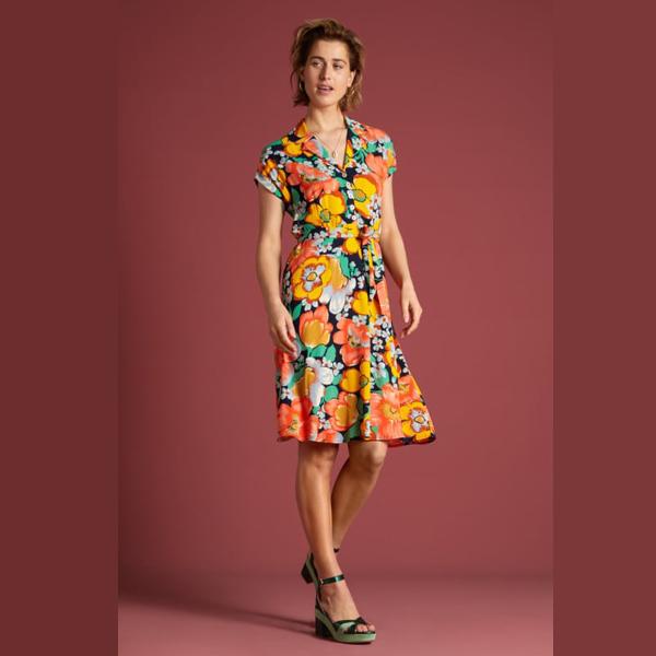 King Louie Darcy Sunbeam kjole med blomstermønster