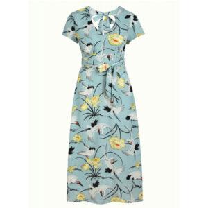 King Louie Shiloh kjole Del Rey i blue Haze med fint print