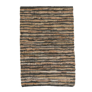 Lædertæppe med striber 60 x 90 cm