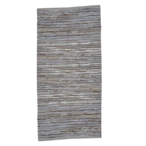 Lædertæppe 70x140 cm grå/beige 151114