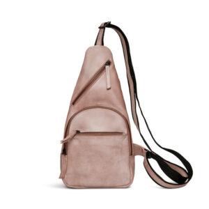Pia Ries høj rosa skind bæltetaske 065-16