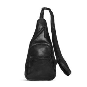 Pia Ries sort skind bæltetaske 065-1
