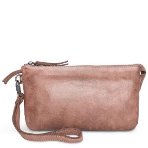 Pia Ries rosa clutch taske med håndledsrem 060-16