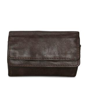 Pia Ries brun pung med 2 klap og plads til 6 kort 051-2