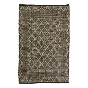 Lædertæppe 122298 60 x 90 cm i grå nuancer