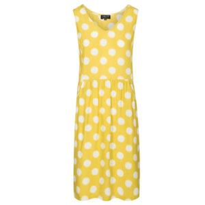 Sød gul ærmeløs prikket kjole fra Zilch