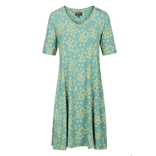 Zilch mintgrøn kjole med korte ærmer og løs pasform