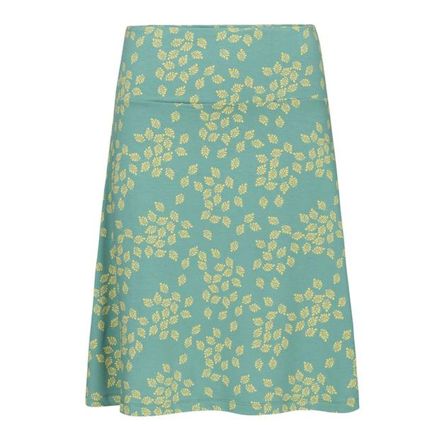 Zilch A-line nederdel i mintgrøn og gult mønster