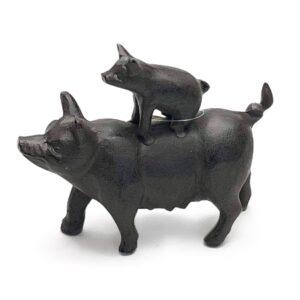 figur, gris med grisling