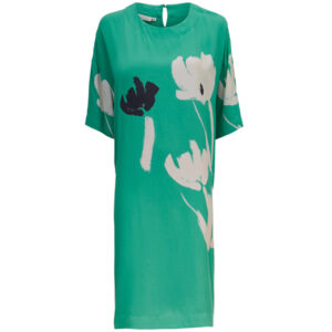 Masai kjole Nasla med korte ærmer. Mint grøn farve.