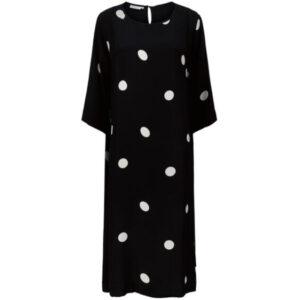 Masai Nabia sort kjole med hvide polka prikker