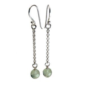 Grønne sten øreringe